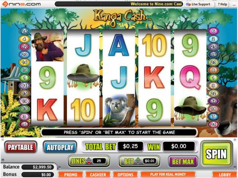 Kanga Cash Fun Slots by Vegas Technology with 5 Reel and 25 Line