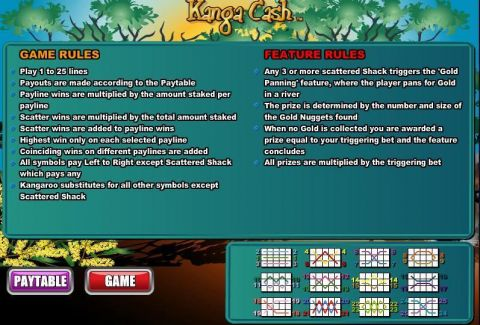 Kanga Cash Fun Slots by WGS Technology with 5 Reel and 25 Line