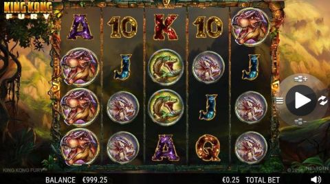 King Kong Fury Fun Slots by NextGen Gaming with 5 Reel and 50 Line