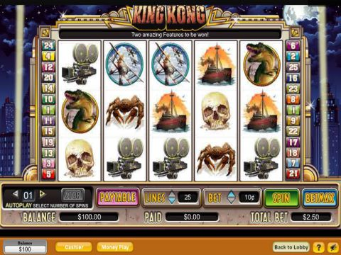 King Kong Fun Slots by NeoGames with 5 Reel and 25 Line
