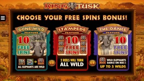 King Tusk Fun Slots by Microgaming with 5 Reel and 25 Line