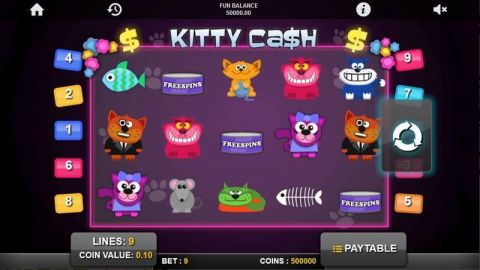 Kitty Cash Fun Slots by 1x2 Gaming with 5 Reel and 9 Line
