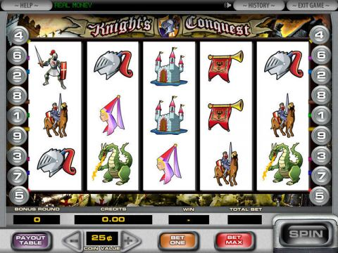 Knight's Conquest Fun Slots by DGS with 5 Reel and 9 Line