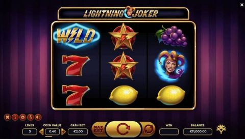 Lightning Joker Fun Slots by Yggdrasil with 3 Reel and