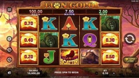 Lionn Gold Fun Slots by StakeLogic with 5 Reel and 25 Line