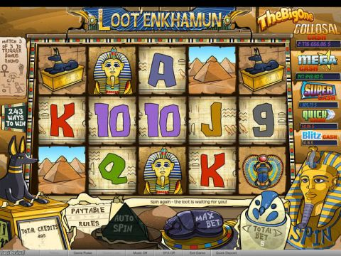 Loot'EnKhamun Fun Slots by bwin.party with 5 Reel and 243 Line