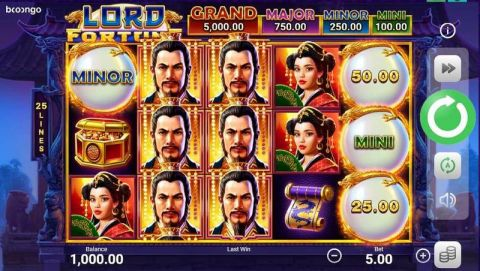 Lord Fortune Fun Slots by Booongo with 5 Reel and 25 Line