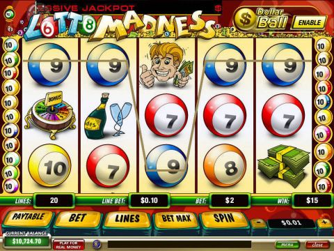 Lotto Madness Fun Slots by PlayTech with 5 Reel and 20 Line