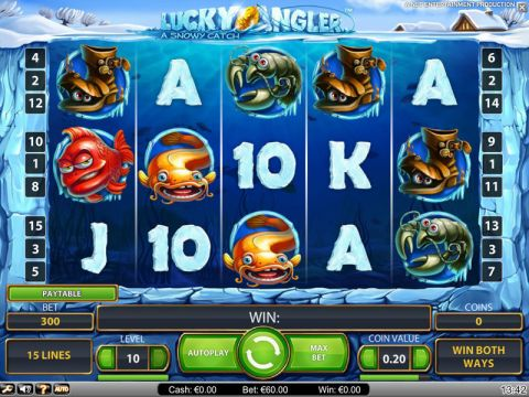 Lucky Angler Fun Slots by NetEnt with 5 Reel and 15 Line