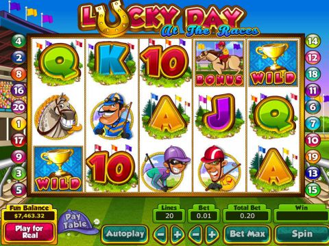 Lucky Day at the Races Fun Slots by Topgame with 5 Reel and 20 Line
