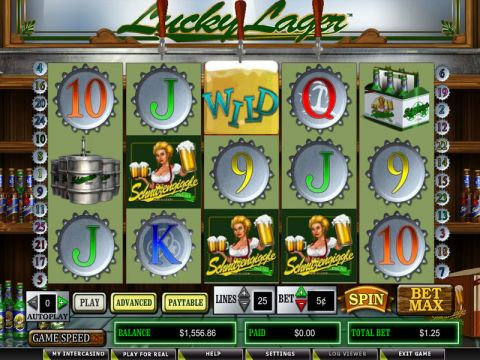 Lucky Lager Fun Slots by CryptoLogic with 5 Reel and 25 Line