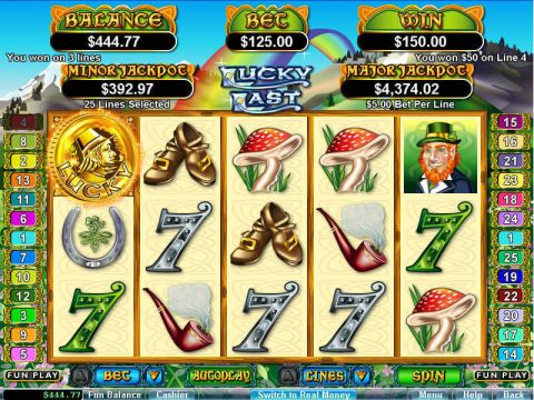Lucky Last Fun Slots by RTG with 5 Reel and 25 Line