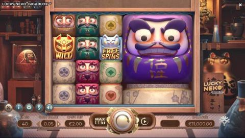 Lucky Neko - GIGABLOX Fun Slots by Yggdrasil with 5 Reel and 40 Line