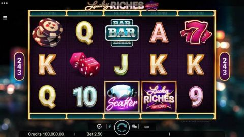 Lucky Riches Fun Slots by Microgaming with 5 Reel and 243 Line