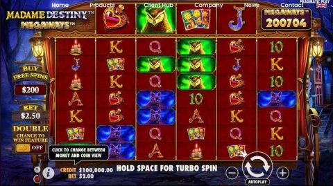 Madame Destiny Megaways Fun Slots by Pragmatic Play with 6 Reel and