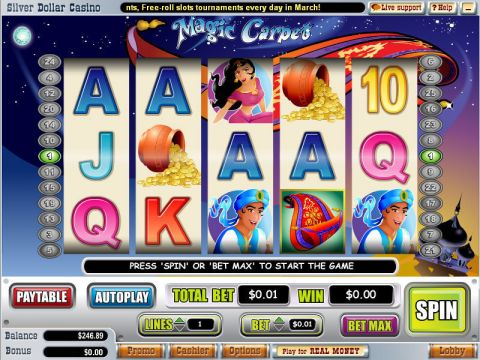 Magic Carpet Fun Slots by WGS Technology with 5 Reel and 25 Line