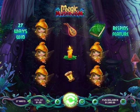 Magic Mushroom Fun Slots by RTG with 3 Reel and 27 Line