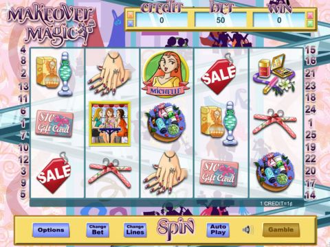 Make Over Magic Fun Slots by Eyecon with 5 Reel and 25 Line