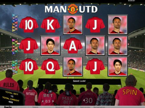 Manchester United Fun Slots by bwin.party with 5 Reel and 30 Line