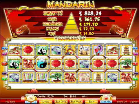 Mandarin 9-Reel Fun Slots by Byworth with 9 Reel and 5 Line