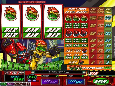 Manga Money Fun Slots by Wizard Gaming with 3 Reel and 1 Line