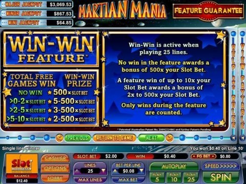 Martian Mania Fun Slots by NuWorks with 5 Reel and 25 Line