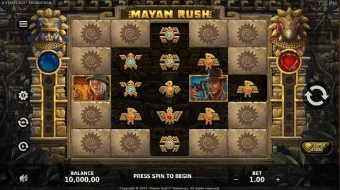 Mayan Rush Fun Slots by StakeLogic with 5 Reel and 3125 Way