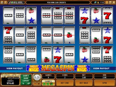 Mega Spin - Double Magic Fun Slots by Microgaming with 3 Reel and 1 Line