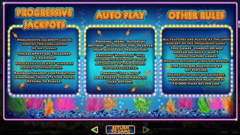 Megaquarium Fun Slots by RTG with 5 Reel and 50 Line