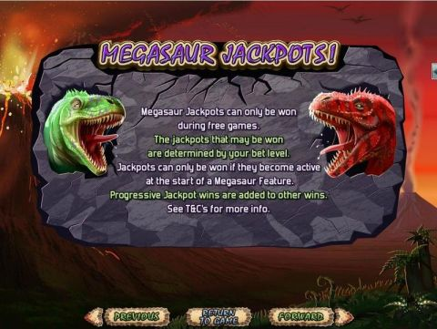 Megasaur Fun Slots by RTG with 5 Reel and 25 Line