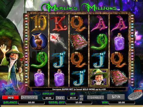 Merlin's Millions Fun Slots by NextGen Gaming with 5 Reel and 50 Line