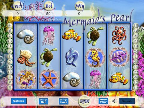 Mermaid's Pearl Fun Slots by Eyecon with 5 Reel and 25 Line
