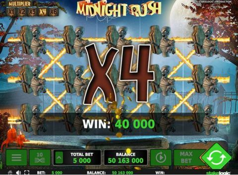 Midnight Rush Fun Slots by StakeLogic with 5 Reel and 10 Line