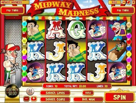 Midway Madness Fun Slots by Rival with 5 Reel and 20 Line