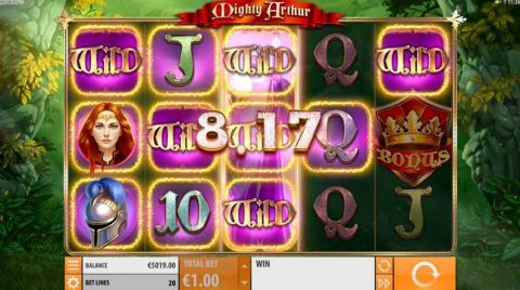Mighty Arthur Fun Slots by Quickspin with 5 Reel and 20 Line