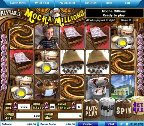 Mocha Millions Fun Slots by Leap Frog with 5 Reel and 20 Line