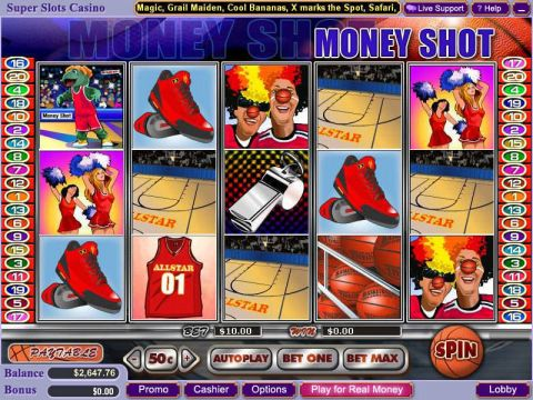 Money Shot Fun Slots by WGS Technology with 5 Reel and 20 Line
