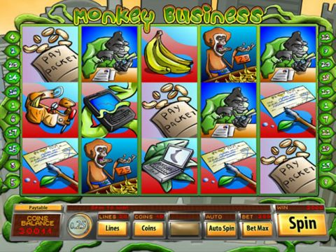 Monkey Business Fun Slots by Mazooma with 5 Reel and 20 Line