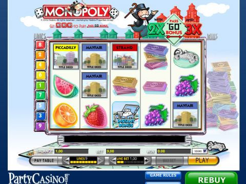 Monopoly Fun Slots by IGT with 5 Reel and 9 Line