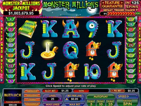 Monster Millions Fun Slots by NuWorks with 5 Reel and 25 Line