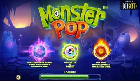 Monster Pop Fun Slots by BetSoft with 5 Reel and