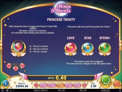 Moon Princess Fun Slots by Play'n GO with 5 Reel and 27 Line