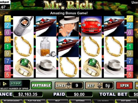 Mr. Rich Fun Slots by CryptoLogic with 5 Reel and 9 Line
