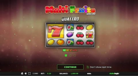 Multi Fruits Quattro Fun Slots by StakeLogic with 5 Reel and 243 Line