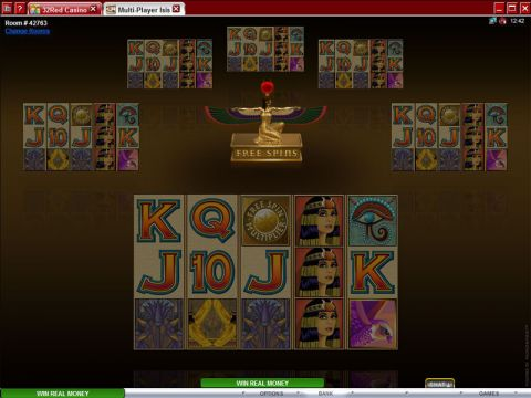 Multi-Player Isis Fun Slots by Microgaming with 5 Reel and 40 Line