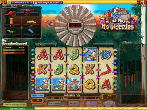 Multi-Player No Worries Fun Slots by Microgaming with 5 Reel and 25 Line