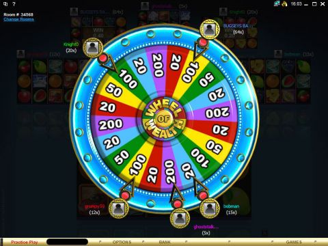 Multi-Player Wheel of Wealth Special Edition Fun Slots by Microgaming with 5 Reel and 25 Line