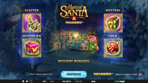Mystical Santa Megaways Fun Slots by StakeLogic with 6 Reel and 117649 Lines