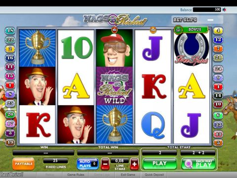 Nags to Riches Fun Slots by Ash Gaming with 5 Reel and 25 Line
