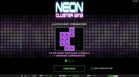 Neon Cluster Wins Fun Slots by StakeLogic with 6 Reel and